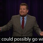 James Corden mocks the Democratic voting system ahead of the next caucus